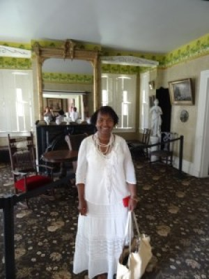 Wanda took a tour of Frederick Douglass' home in the Cedar Hill district of Washington, D.C., with a beautiful view of the Capitol and monuments. – Photo: Wanda Sabir