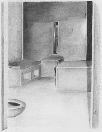 "Billy ""Guero"" Sell, who died on hunger strike as his neighbors shouted for help, was an accomplished artist. This is his Corcoran SHU cell. – Photo: courtesy Prisoner Express"