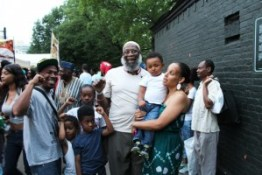 Everyone wanted to welcome home recently freed Black Panther Party and Black Liberation Army political prisoner Sekou Odinga, caged for more than 33 years, at the International African Arts Festival in Brooklyn on July 3. – Photo: JR Valrey, Block Report