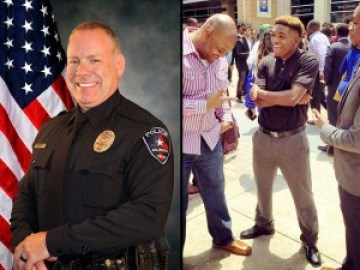 Killer cop Brad Miller, 48, and his victim, college football defensive back Christian Taylor, 19