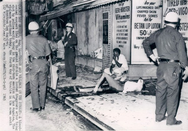 Police, bolstered by the California National Guard, showed the Watts rebels no mercy, but the people were determined to be heard. It took 14,000 National Guard troops, 3,000 arrests, 800 injuries and 32 deaths to put down the Watts Rebellion. Police watching nonchalantly as a young Black man bleeds to death is reminiscent of Mike Brown in Ferguson in 2014 and Kenneth Harding in Hunters Point in 2011.