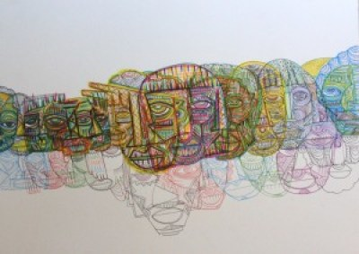 This design by Eritrea born, Oakland raised visual artist Mahader Tesfai is the theme art for the Matatu Festival.