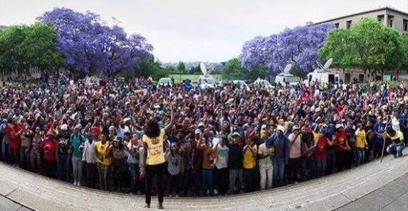 """Ten thousand students protest outside the Union Buildings, the seat of government, in Pretoria, South Africa, in what the London Guardian calls """"the largest single student protest since the 1976 Soweto uprising – an iconic moment in the fight against South Africa's apartheid regime – and participants represented a broad cross-section of the country's racial groups and political parties."""""""