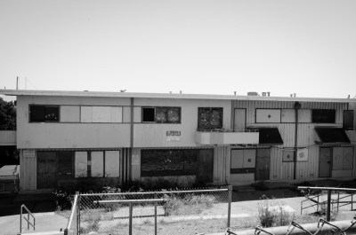 Decrepit public housing in Hunters Point