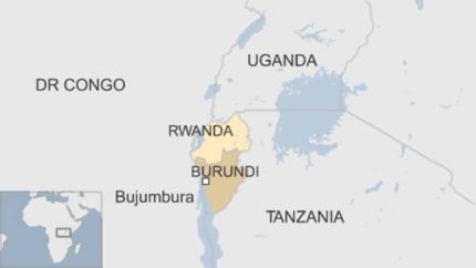 Rwanda Burundi map