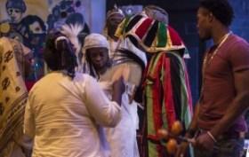 Egungun spiritualist Adama leads an Egungun ancestor ceremony. – Photo: Malaika H Kambon