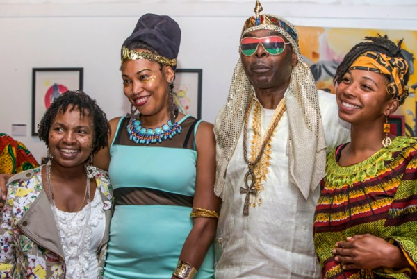 Wanda Sabir, Dyimah Rodgers, Paradise the Poet and Monica Jackson at the first annual Tahuti's Ball! – Photo: Malaika H Kambon