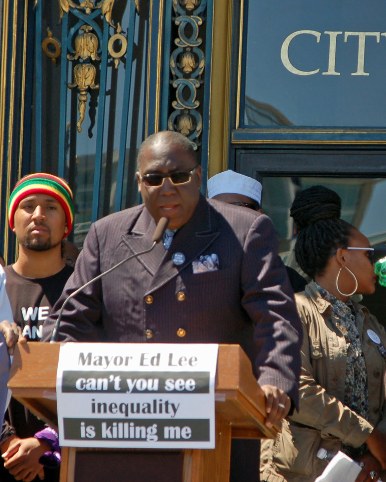 Income Inequality protest rally Pastor Yul Dorn Sr , Emanuel COGIC