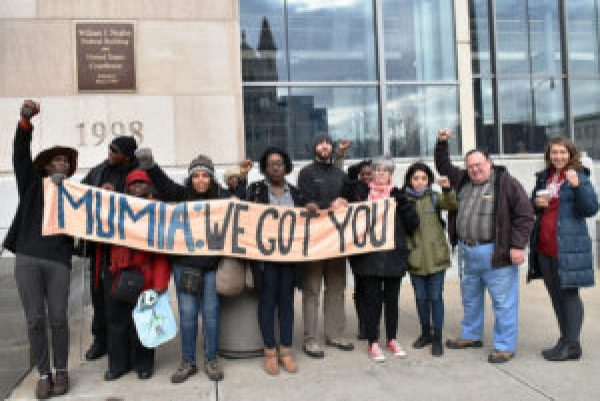 "Supporters gather outside the federal courthouse in Scranton, where they ""rocked the court."" – Photo: Joe Piette"