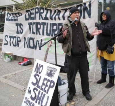 Bato Talamantez of the San Quentin 6 speaks. – Photo: Liberated Lens Collective