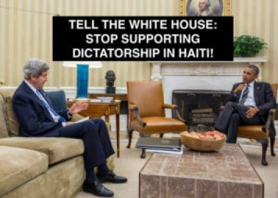 'Tell the White House stop supporting dictatorship in Haiti' 1215