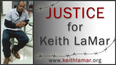 'Justice for Keith LaMar' (Bomani Shakur) graphic, web