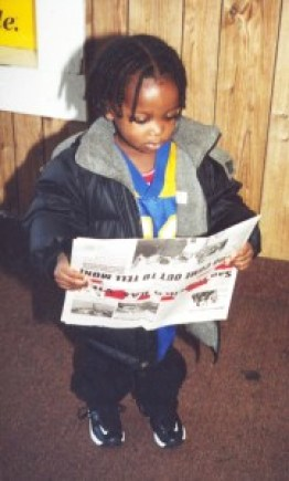 "Even very small children used to tag along with their older siblings to deliver the Bay View door to door in Bayview Hunters Point. Young adults often stop us to ask, ""Do you remember me? I used to carry the paper – and I've read it all my life."" The paper in this photo has our pre-2003 masthead."