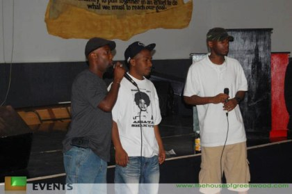 Zin, JR and Malcolm on stage in Houston