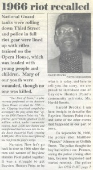 Harold Brooks, BVHP Champion and good friend to both Bay View publishers, al-Kareem and Ratcliff, was featured on the front page of the Sept. 16, 1994, New Bayview, the paper's original name.