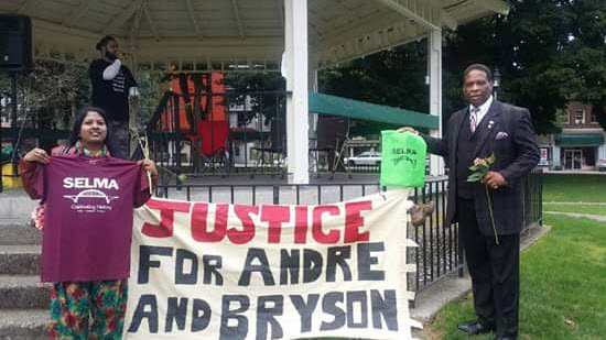 Last fall, Donovan Rivers, right, a candidate for Congress, and other activists organized a large March for Mothers – watch the video below – and rally at Sylvester Park in downtown Olympia, demanding justice for André and Bryson and all victims of police violence.