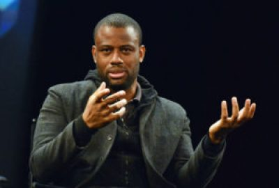 """Filmmaker and critic Tambay Obenson was a panelist on the Tribeca Talks Industry Panel, """"Look Who's Talking,"""" during the 2013 Tribeca Film Festival, on April 19, 2013 in New York City. – Photo: Slaven Vlasic"""