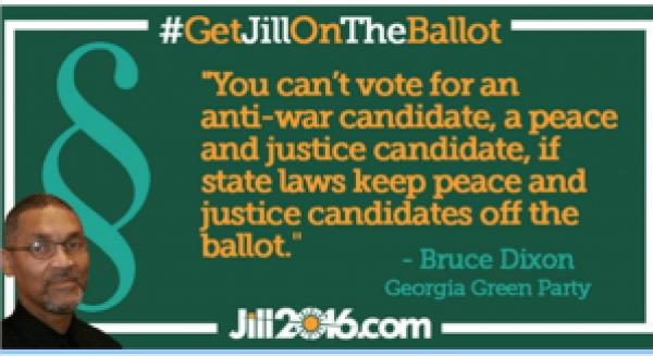 Bruce Dixon quote re Green Party ballot access 2016
