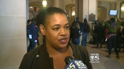 """We're letting Mayor Ed Lee know that until he fires Chief Suhr, there's no business as usual in San Francisco. We're going to shut it down!"" Frisco 5 spokesperson Yayne Abeba told CBS News. ""I want the good police officers to know that if they step up, the community has their backs,"" she added."