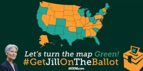 'Let's turn the map Green' Jill2016.com