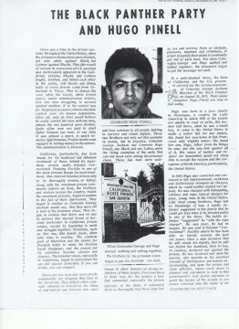 """The Black Panther Party and Hugo Pinell,"" a story published by The Black Panther newspaper in Nov. 29, 1971"