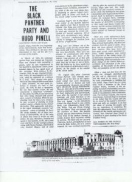 """""""The Black Panther Party and Hugo Pinell,"""" second page"""