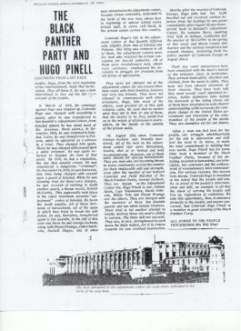 """The Black Panther Party and Hugo Pinell,"" second page"