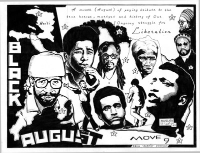 """Black August"" – Art: Kevin ""Rashid"" Johnson, 1859887, Clements Unit, 9601 Spur 591, Amarillo TX 79107"