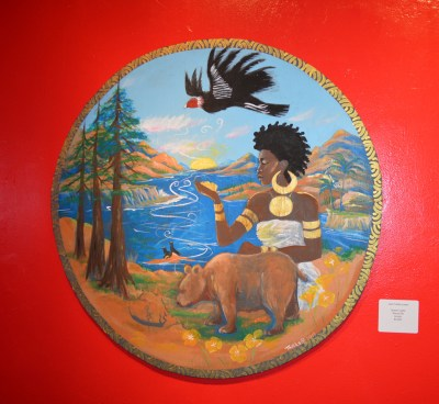 "In ""The New Seal of California,"" artist, musician, first woman to join the Black Panther Party and a descendant of explorer Sir Francis Drake, Joan Tarika Lewis reimagines the seal of California to be inclusive of her Black identity. Could Queen Calafia, the warrior queen said to have ruled over a kingdom of Black women living on the mythical Island of California, as described by Spanish writer Garci Rodríguez de Montalvo in 1500, also have been an inspiration?"