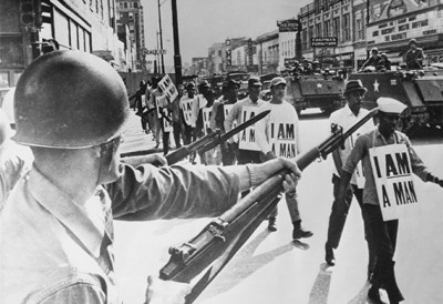 Black men claiming their manhood so enraged white supremacists that it gave them an excuse in 1968 to assassinate Martin Luther King and in 2016 to assassinate Black men every day. – Photo: Rolls Press, Popperfoto