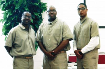 The members of the USP Atlanta team who debated Morehouse: Dr. Belay Reddick, Edmond Phillips and Joseph Thompson