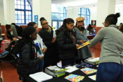 Students find adults eager to help and plenty of materials to examine at last year's Black Family Day.
