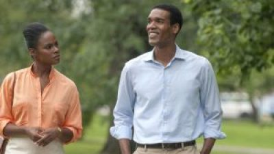 """Tika Sumpter and Parker Sawyers play Michelle and Barack Obama in """"Southside with You."""" – Photo: Pat Scola"""
