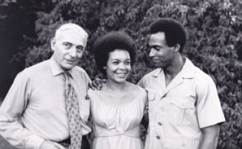 Attorney Charles Garry, Kiilu Nyasha, then known as Pat Gallyot, and Black Panther Party co-founder Huey P. Newton in 1970