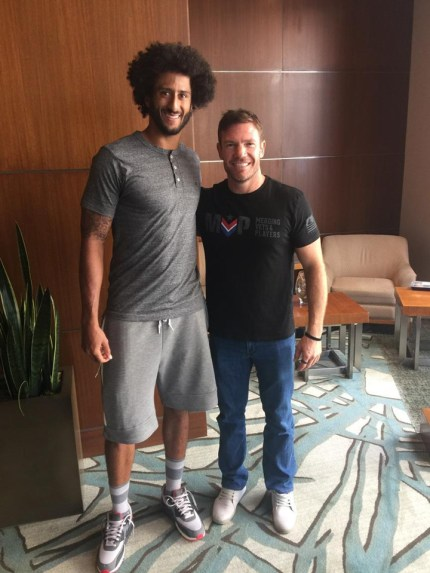 Colin Kaepernick & former Green Beret Nate Boyer in Boyer's tweet 090116