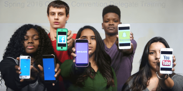 College students show how they will influence the 2016 presidential debates and election with their smart phones and social media.