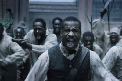 Nat Turner (Nate Parker) and his rebel force at the armory in Jerusalem face an armed militia.