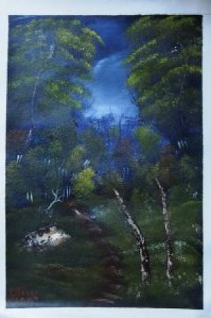 """Forest"" – Art: Anthony C. Oliver, P.O. Box H-79800, 1-EB-109, San Quentin State Prison, San Quentin CA 94974. Anthony would love to have a penpal of any age and gender who likes art."