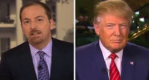 NBC Anchor Chuck Todd and President-elect Donald Trump