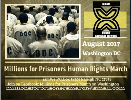Get ready! The Millions for Prisoners Human Rights March on Washington is Aug. 19