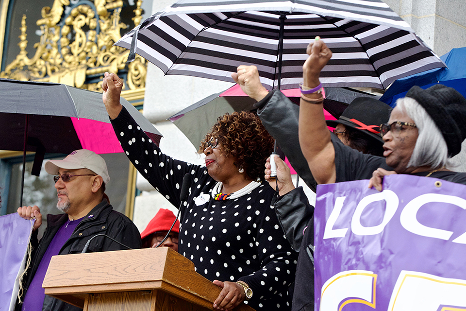 On MLK Jr. Day, SF city workers demand the firing of HR Director Micki Callahan for racial discrimination