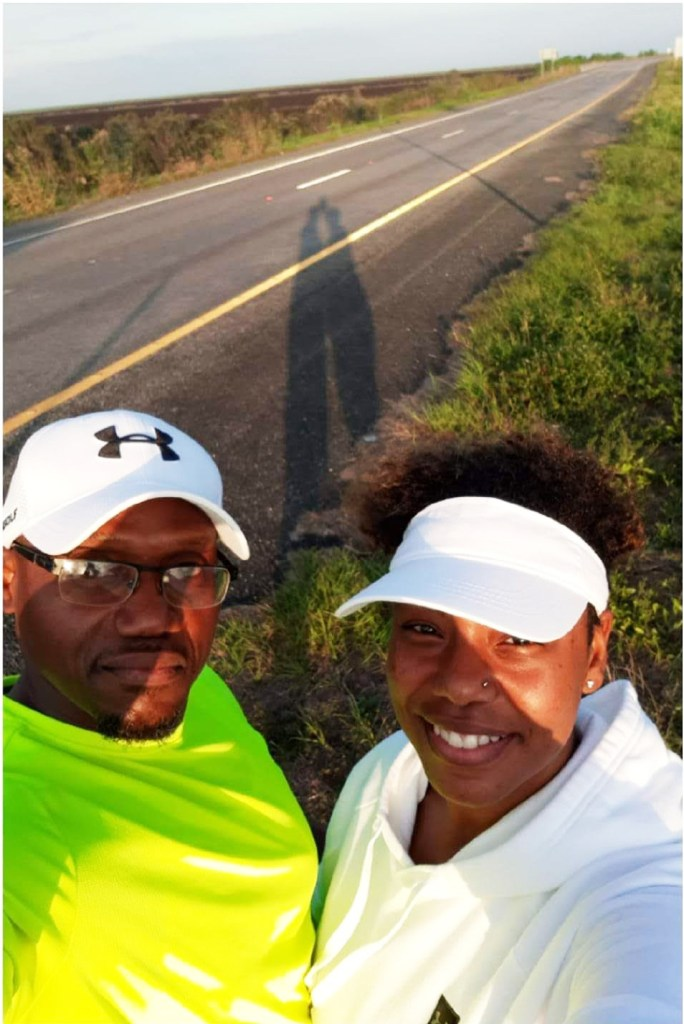 Eric-and-Theresa-Payne-prepare-for-Run-to-Belle-Glade-Marathon-on-SR80-eastbound, Pastor Eric Payne paroled, then snatched from his church, wife, four children back to prison for clerical error, Behind Enemy Lines