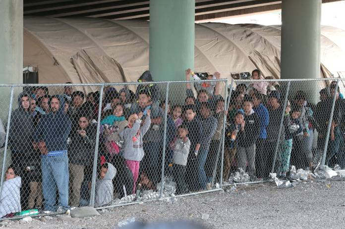 Caged-children-a-few-adults-near-border-0619-by-Tiny, Caging poor people: Occupied Land Truth Tour through Southwest Turtle Island, National News & Views