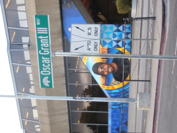 Newly-dedicated-Oscar-Grant-mural-by-Senay-Refa-One-Alkebulan-Fruitvale-BART-on-Oscar-Grant-III-Way-0619-by-Jahahara, Reparations now! Pass HR 40!, Culture Currents