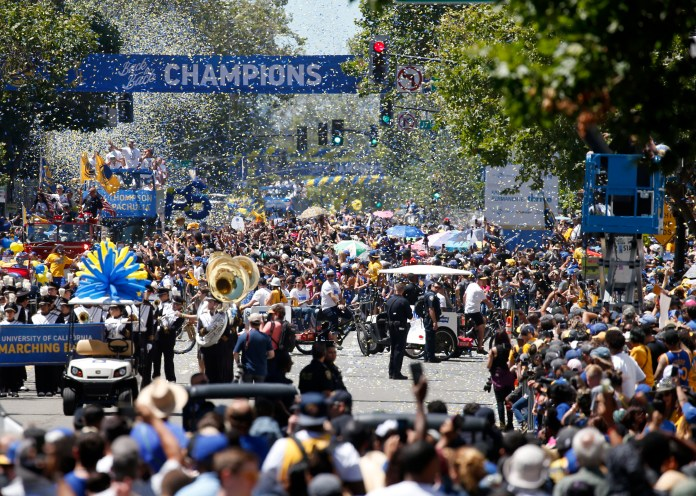 Warriors-2018-Victory-Parade-Oakland-061218-by-SJ-Mercury-News, Blow the whistle! How the wheels fell off the Warriors' dynasty, Culture Currents