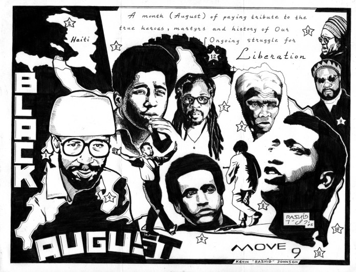Black-August-art-by-Kevin-Rashid-Johnson, Black August, from 1971 to 2011-13, Behind Enemy Lines