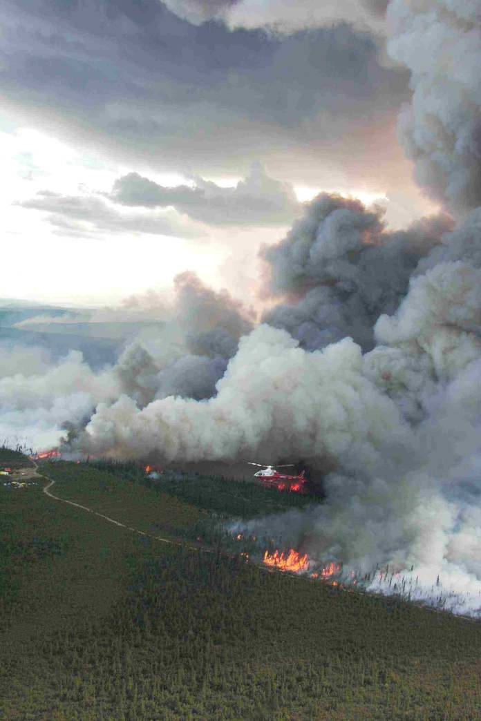 Boundary-Tundra-Fire-Alaska-near-Canadian-border-2005-by-Tony-Chapman-BLM-Alaska-Fire-Service, Deep reflections for a world on fire: A review of two books by Victor Wallis, Culture Currents