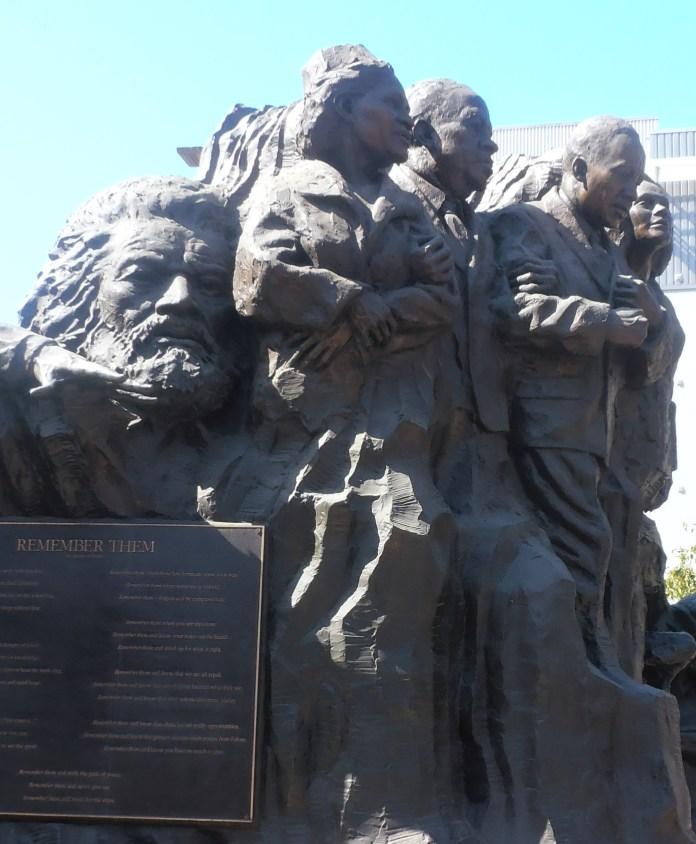 Remember-Them'-sculpture-park-Kings-Abernathys-Douglass-art-by-Mario-Chiodo-downtown-Oakland-by-Jahahara, When our ancestors speak, LISTEN! Part 2, Culture Currents