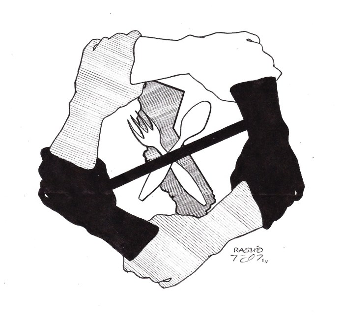 California-hunger-strike-logo-art-by-Rashid-2011, The Black Panther Party of 1966 and the New United Panther Movement: Continuity and Renewal, Culture Currents