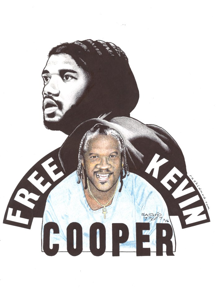 Free-Kevin-Cooper-art-by-Rashid-2016, A key reparation to descendants of slaves wouldn't cost a dime, Behind Enemy Lines